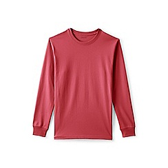 Lands' End - Red long sleeve super-t traditional fit