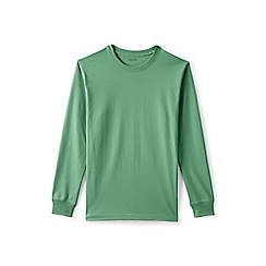 Lands' End - Green Long Sleeve Super-T Traditional Fit T-Shirt