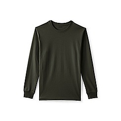 Lands' End - Green long sleeve super traditional fit t-shirt