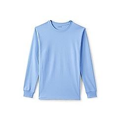 Lands' End - Blue Long Sleeve Super-T Traditional Fit T-Shirt
