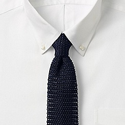 Lands' End - Blue plain silk tie