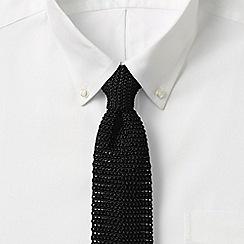 Lands' End - Black plain silk tie