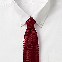 Lands' End - Red plain silk tie