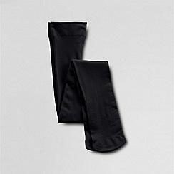 Lands' End - Girls' black microfibre tights
