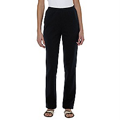 Lands' End - Black cotton jersey trousers
