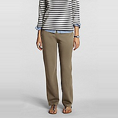 Lands' End - Beige cotton jersey trousers