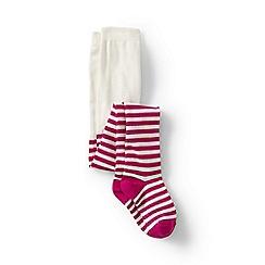 Lands' End - Pink girls' pattern tights