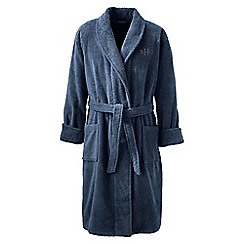 Lands' End - Blue Regular Turkish Terry Bath Robe