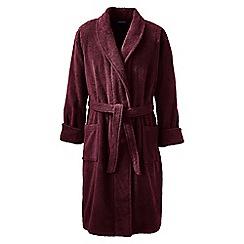Lands' End - Red regular Turkish terry bath robe