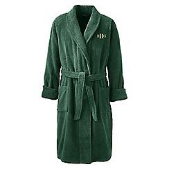 Lands' End - Green regular turkish terry bath robe