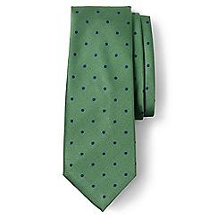 Lands' End - Green regular churchill dot hand-sewn silk tie