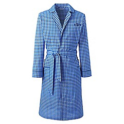 Lands' End - Blue Cotton Dressing Gown