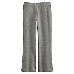Lands' End - Grey Girls' Flared Yoga Pants