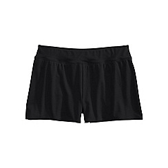 Lands' End - Black regular tummy control 3.5 swim shorts