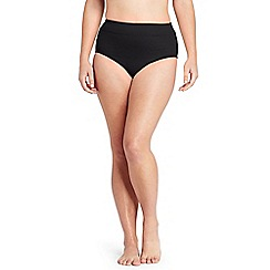 Lands' End - Black beach living high waist tummy control swim bottoms
