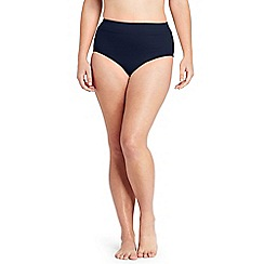Lands' End - Blue beach living high waist tummy control swim bottoms