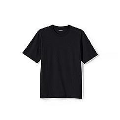 Lands' End - Black men's short sleeve tailored fit super-t