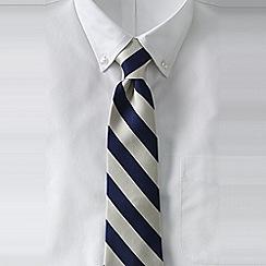 Lands' End - Blue men's wide stripe silk tie