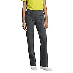 Lands' End - Grey women's regular starfish refined stretch jersey straight-leg trousers