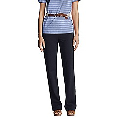 Lands' End - Blue women's regular starfish refined stretch jersey straight-leg trousers