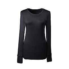 Lands' End - Black plus lightweight silk interlock base layer