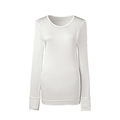 Lands' End - Cream plus lightweight silk interlock base layer