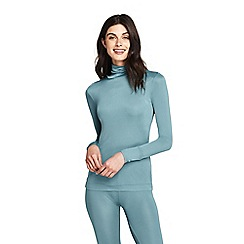 Lands' End - Blue petite lightweight feminine silk roll neck