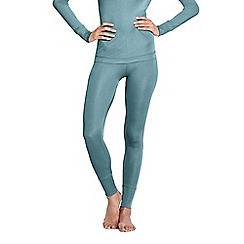 Lands' End - Blue feminine silk longjohns