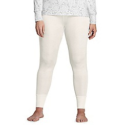 Lands' End - Cream plus lightweight silk longjohns