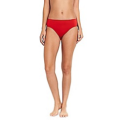 Lands' End - Orange mid rise bikini bottoms