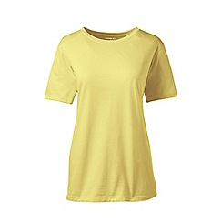 Lands' End - Yellow supima short sleeves crew neck t-shirt