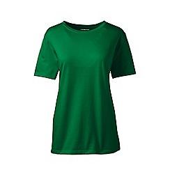 Lands' End - Green supima short sleeves crew neck t-shirt