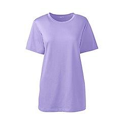 Lands' End - Purple Crew Neck T-Shirt Plus