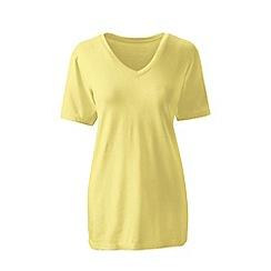 Lands' End - Yellow supima short sleeves v-neck t-shirt