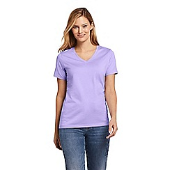 Lands  End - Purple Supima Short Sleeve V-Neck T-Shirt 4d8df46eeb71