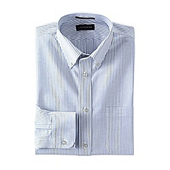 Lands' End - Blue tailored fit patterned no iron oxford