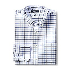Lands' End - White traditional fit pattern no iron Oxford shirt