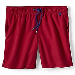 Lands' End - Red plain swim shorts