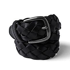 Lands' End - Black leather braided belt