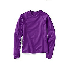 Lands' End - Girls' purple thermaskin heat midweight crew top