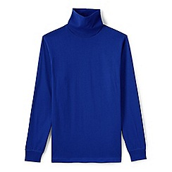 Lands' End - Blue super tee rollneck