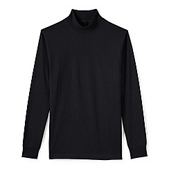Lands' End - Black tall  super tee polo neck