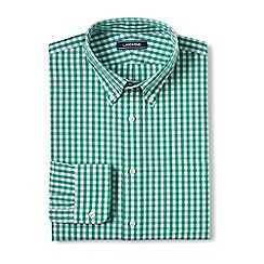 Lands' End - Green traditional fit button-down poplin shirt