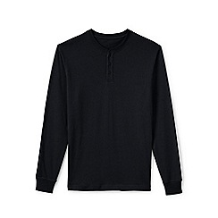 Lands' End - Black men's long sleeve super-t henley