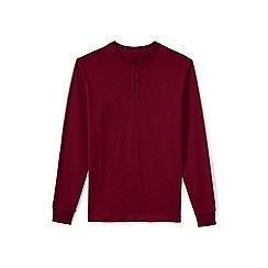 Lands' End - Red long sleeve henley super t-shirt