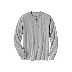 Lands' End - Grey men's long sleeve super-t henley