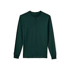 Lands' End - Green long sleeve henley super t-shirt