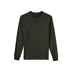 Lands' End - Green long sleeve henley super t-shirt