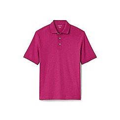 Lands' End - Pink traditional fit Supima polo shirt