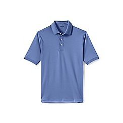 Lands' End - Purple short sleeve supima banded sleeve polo shirt